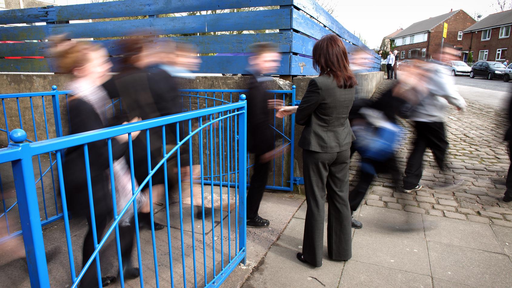School gate Covid