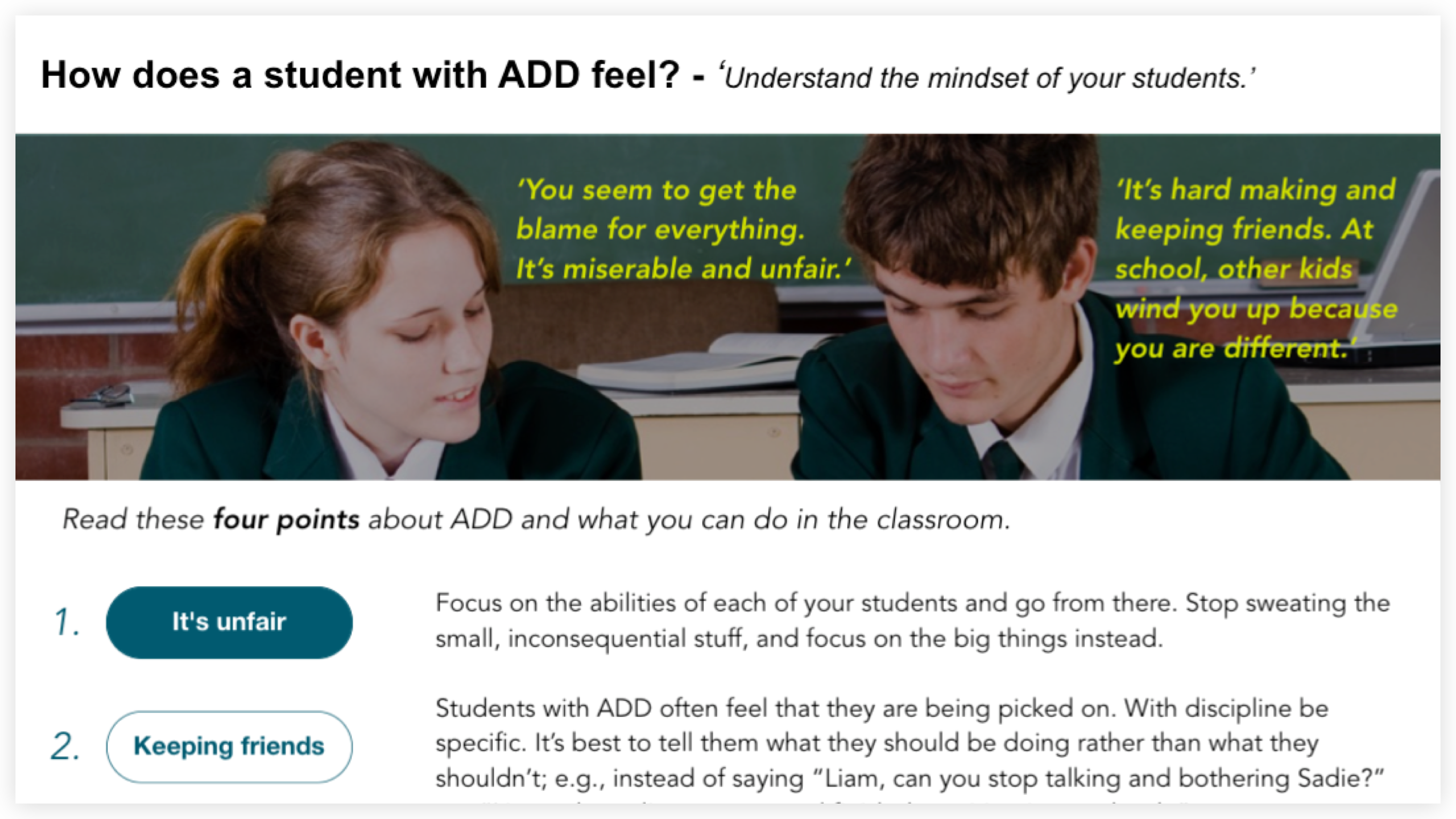 How does a student with ADD feel image