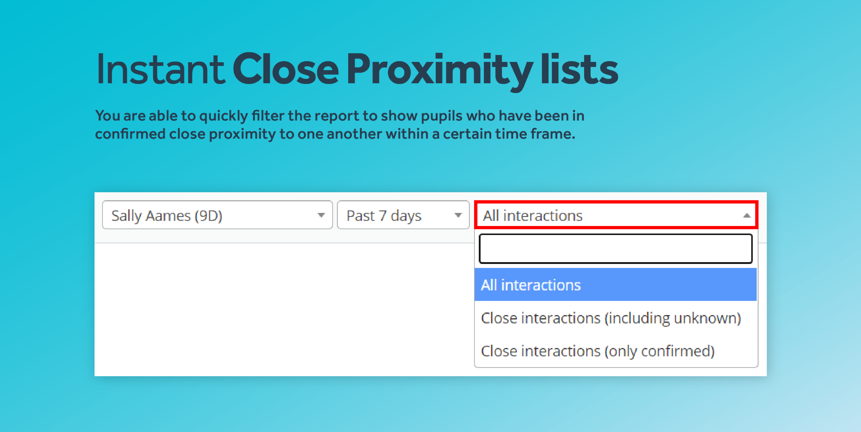 Close proximity lists