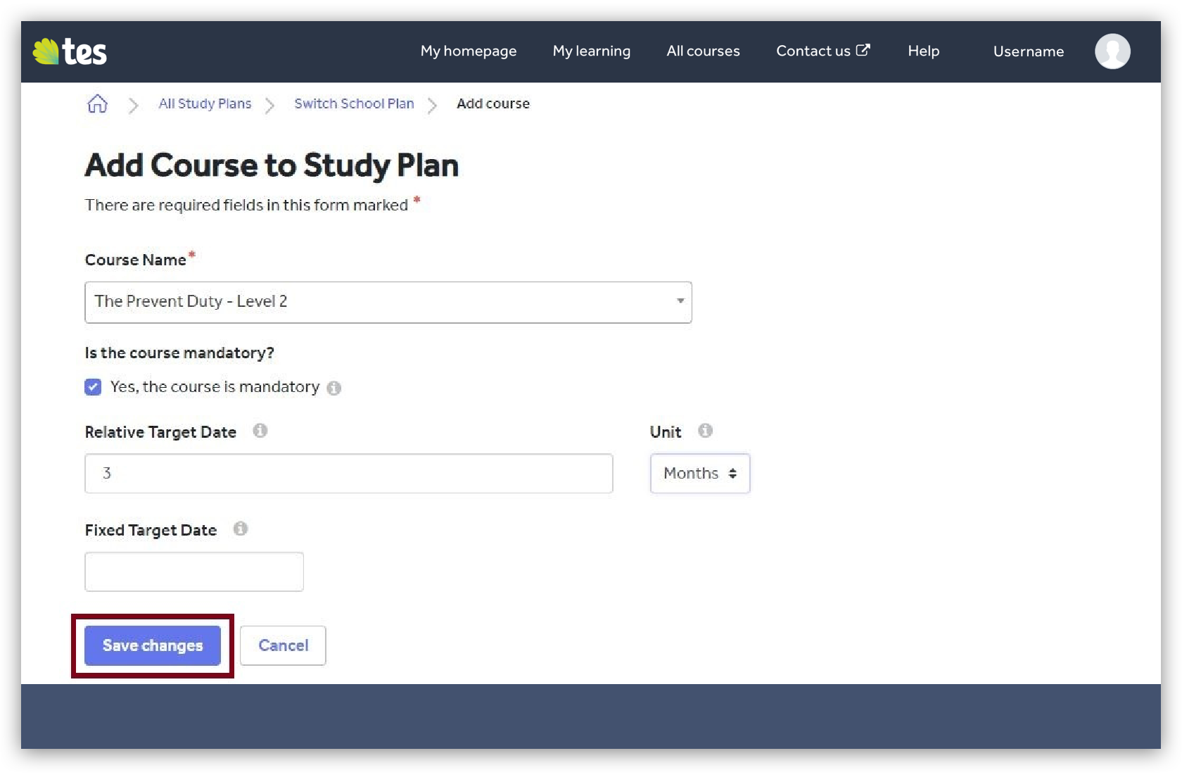 Add courses to a study plan image