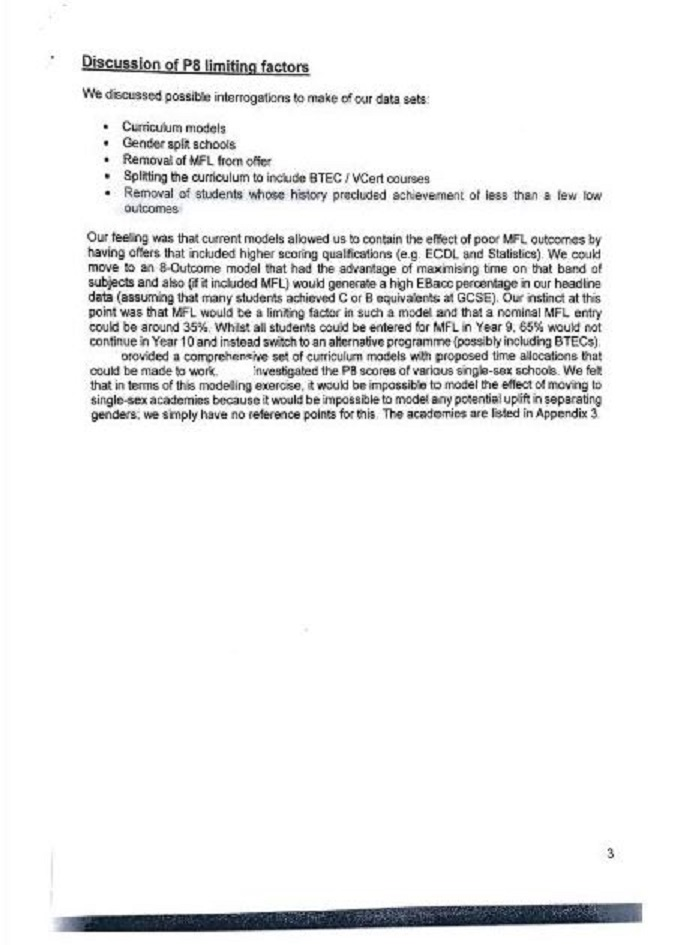 The Gorse Academies document