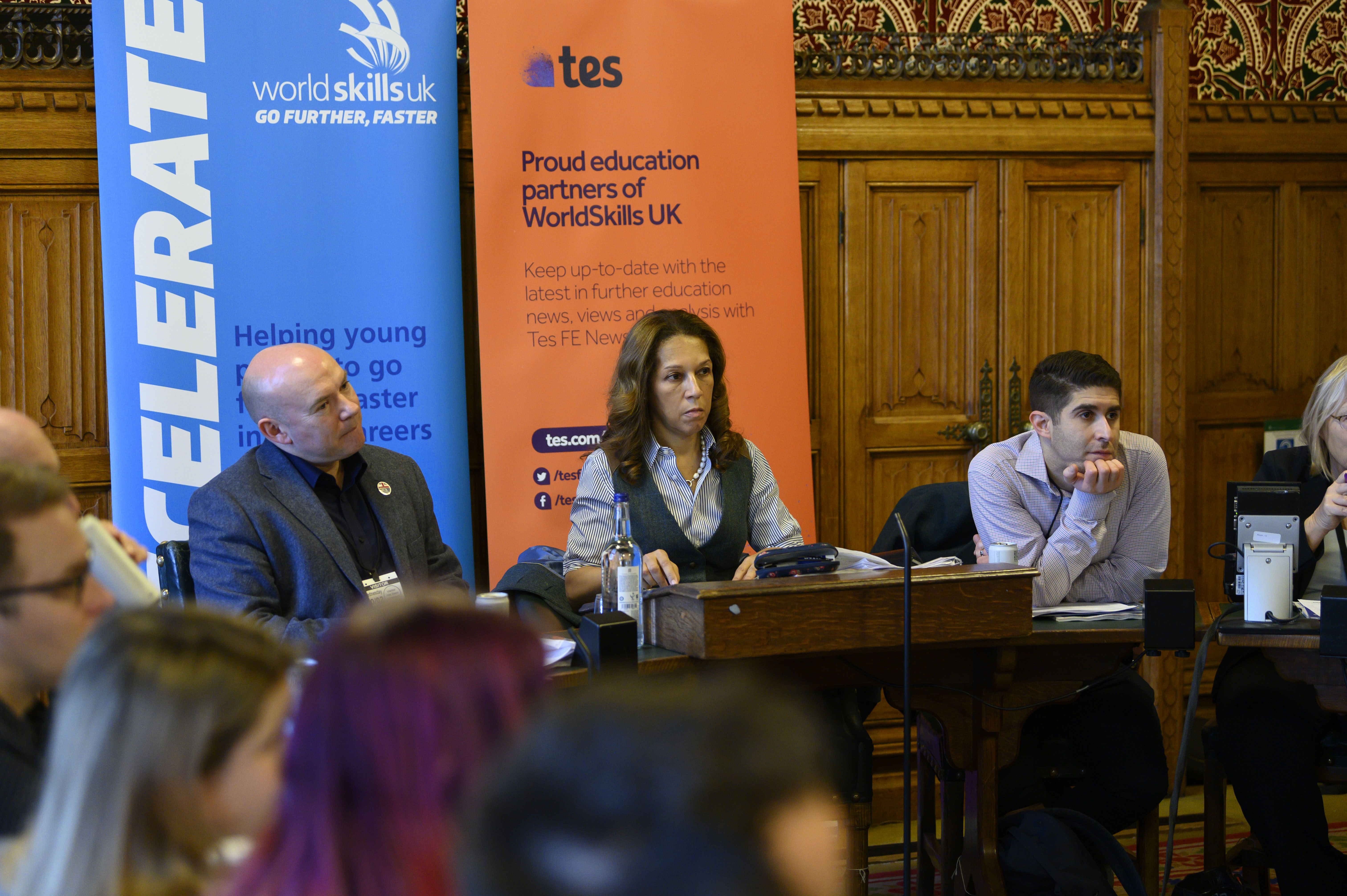 The roundtable panel discussion was organised by Worldskills UK, Tes and PinkNews