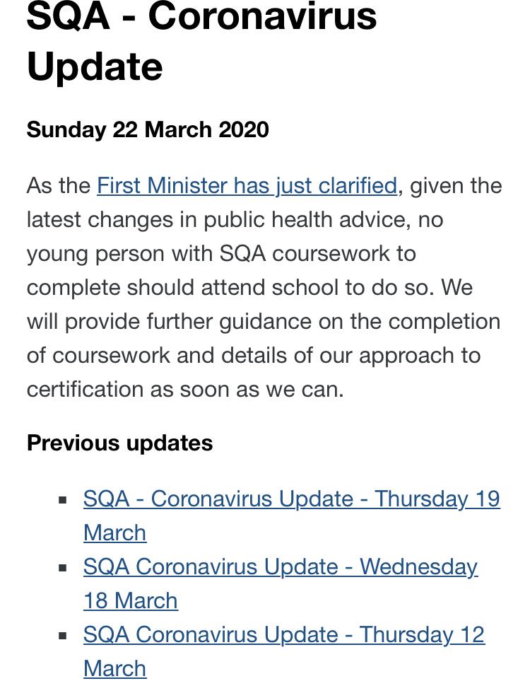 coronavirus SQA