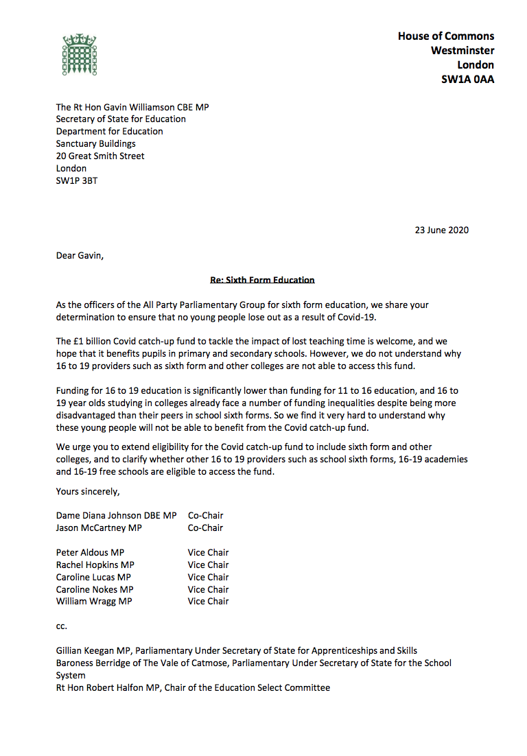 APPG letter to GW