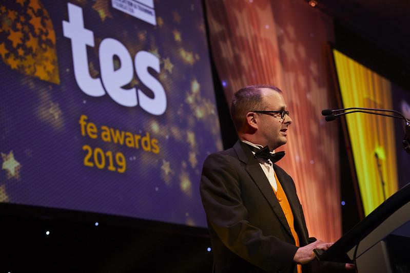 Tes FE Awards Stephen Exley