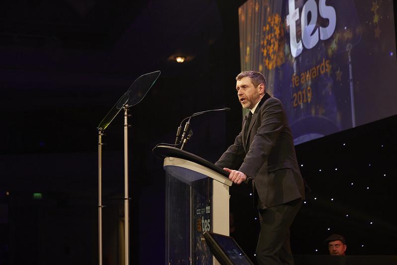 Tes FE Awards 2019 host Dave Gorman