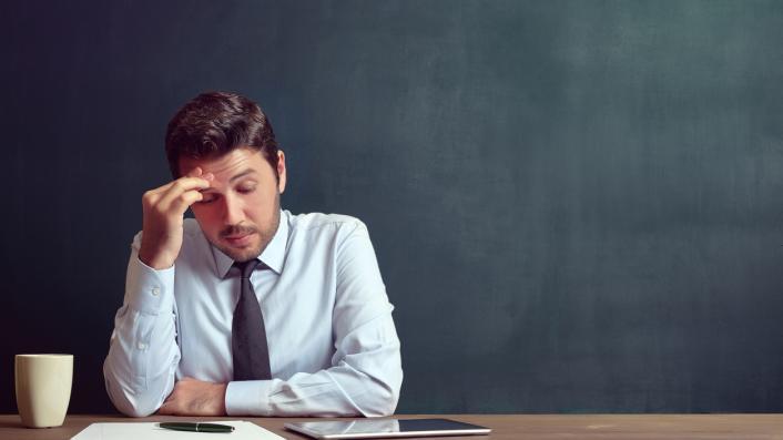 unhappy teacher