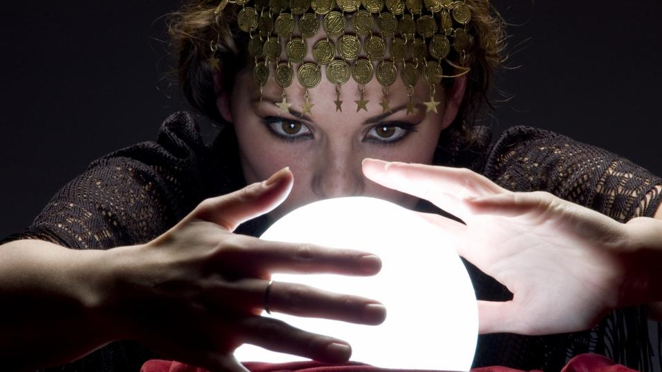 Fortune teller, with crystal ball