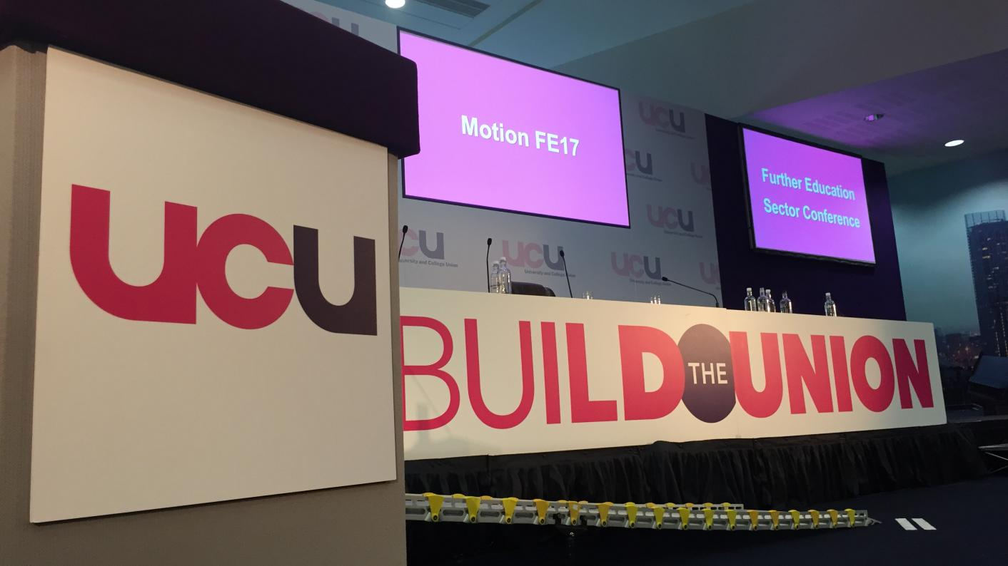 The University and College Union (UCU) grew its membership by 16 per cent last year