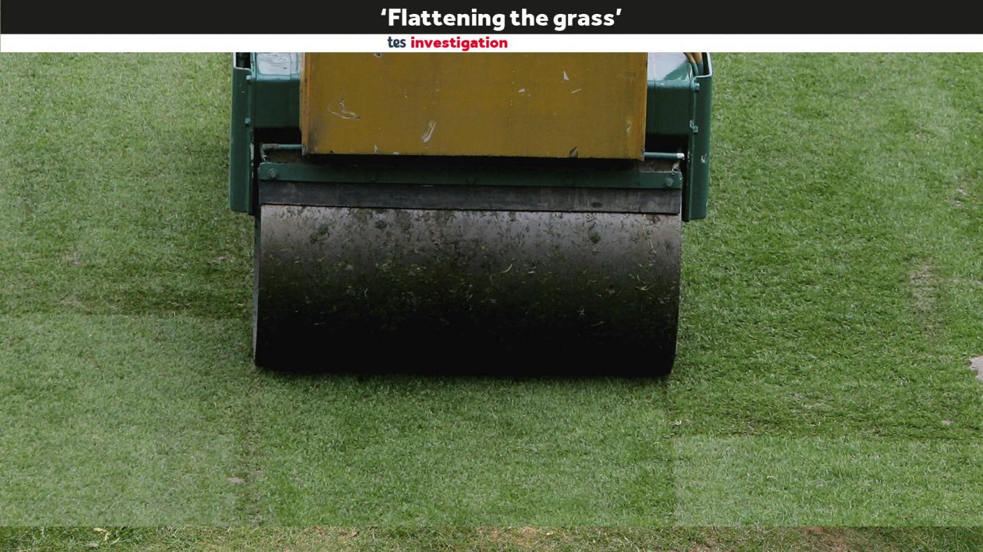 Flattening the grass Outwood Grange
