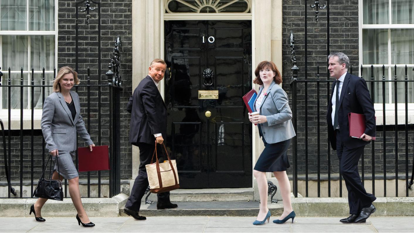 Michael Gove, Damian Hinds, Justine Greening, Nicky Morgan, education secretary, prime minister