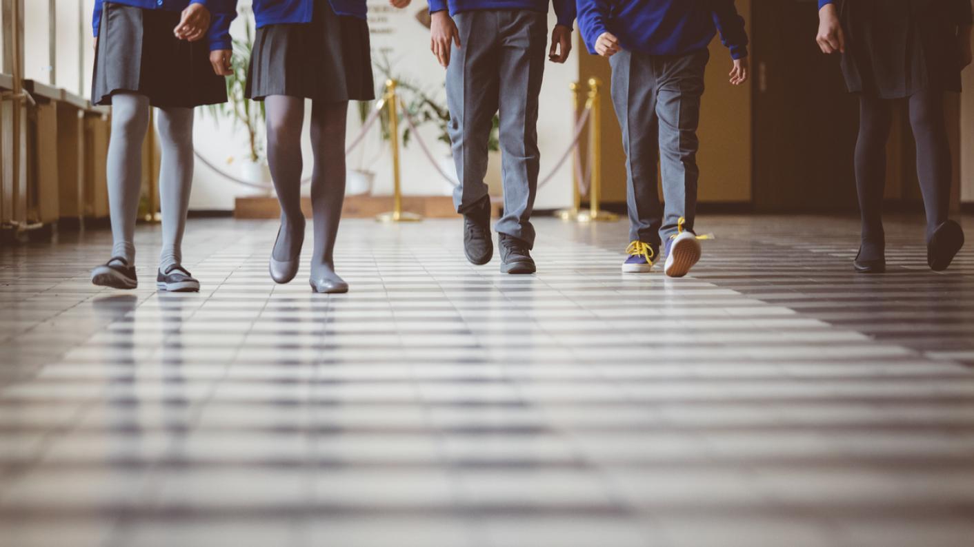 pupils walking