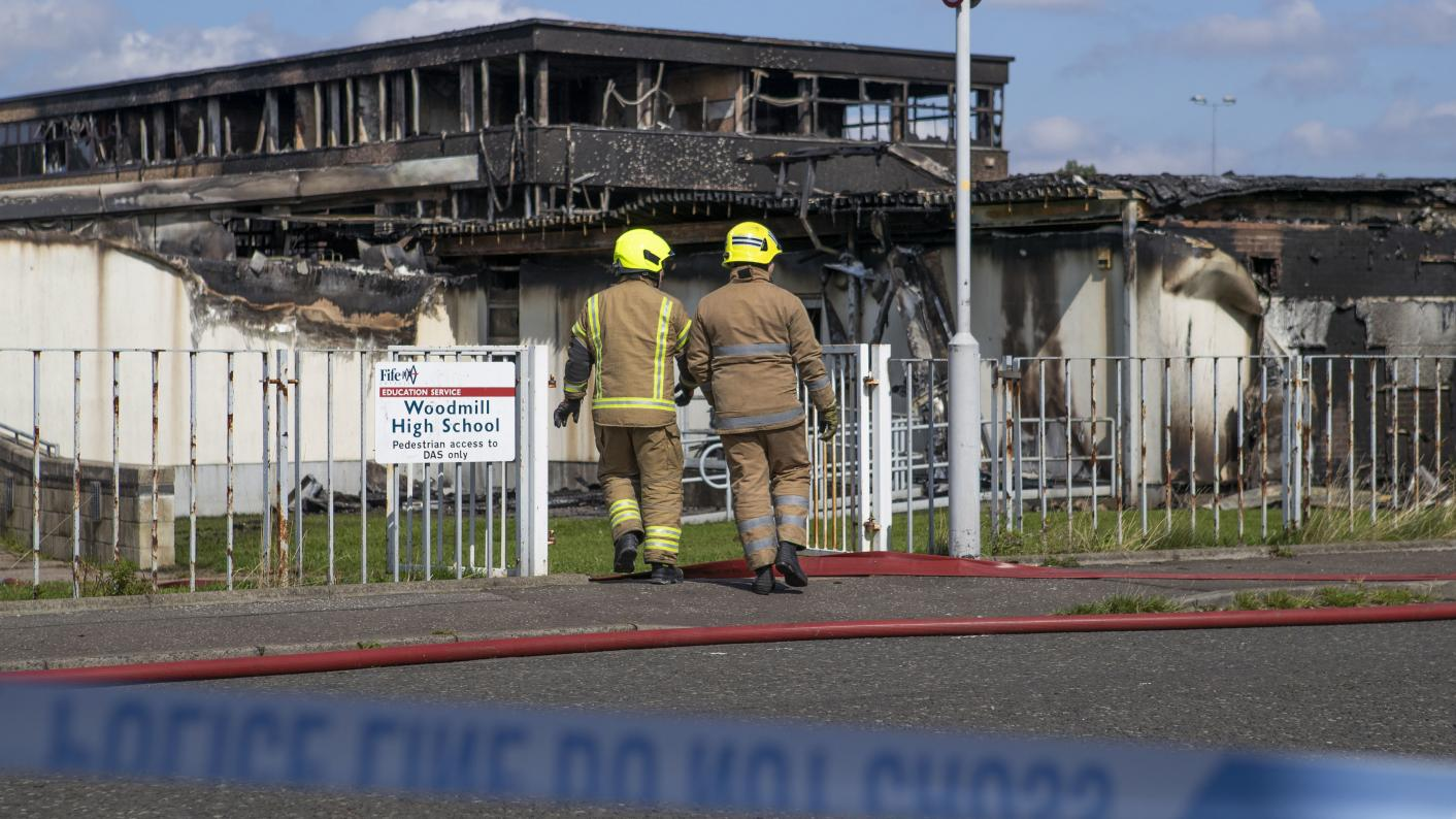 Woodmill High School fire: No part of the Dunfermline secondary school was 'untouched by fire', according to the authorities (Source: Press Association)