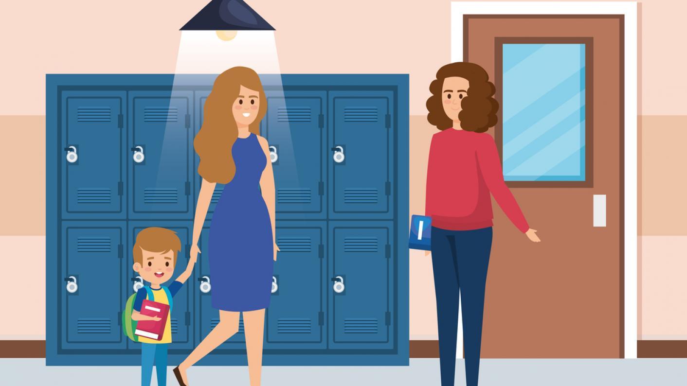Parents' evening: when teachers visit their child's school