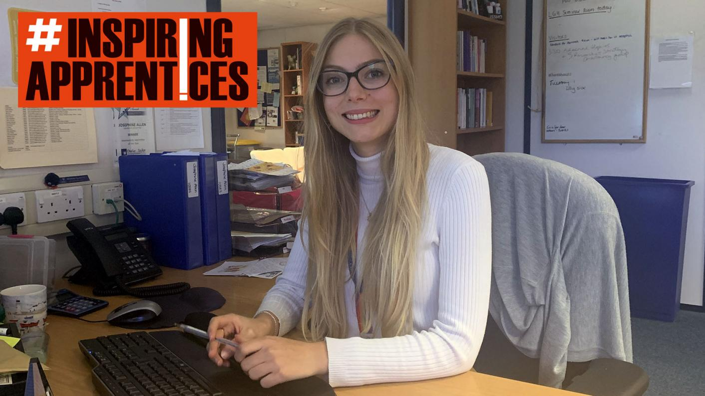 #InspiringApprentices: 'You can't compare university and apprenticeships,' says Jo Allen