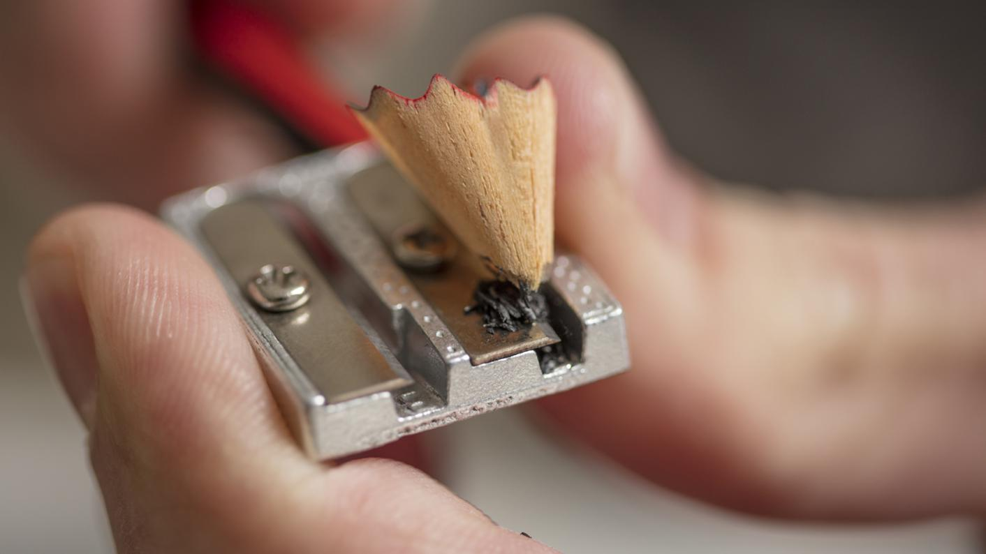 Pencil being sharpened