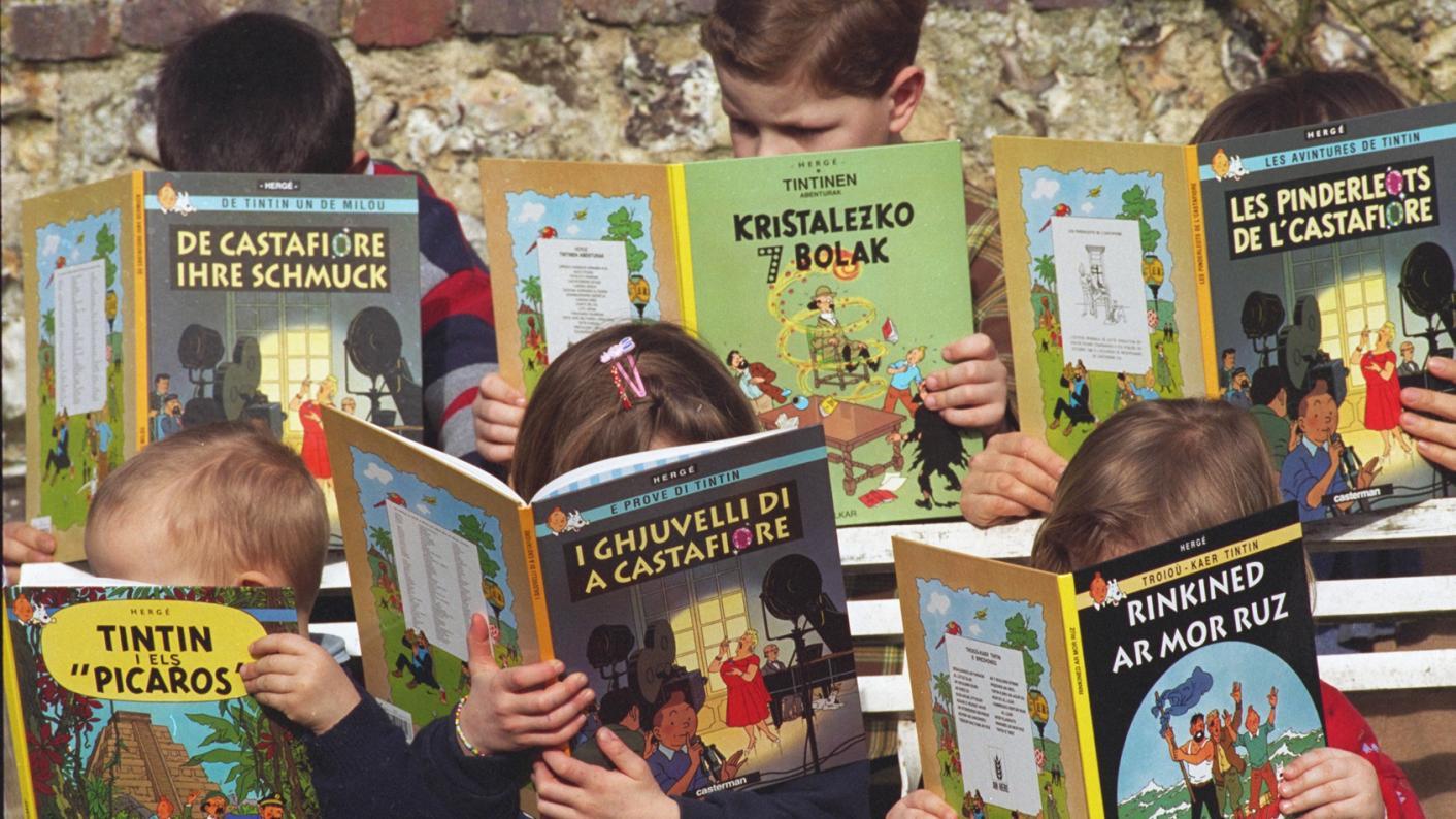 MFL: Children reading Tintin in multiple languages
