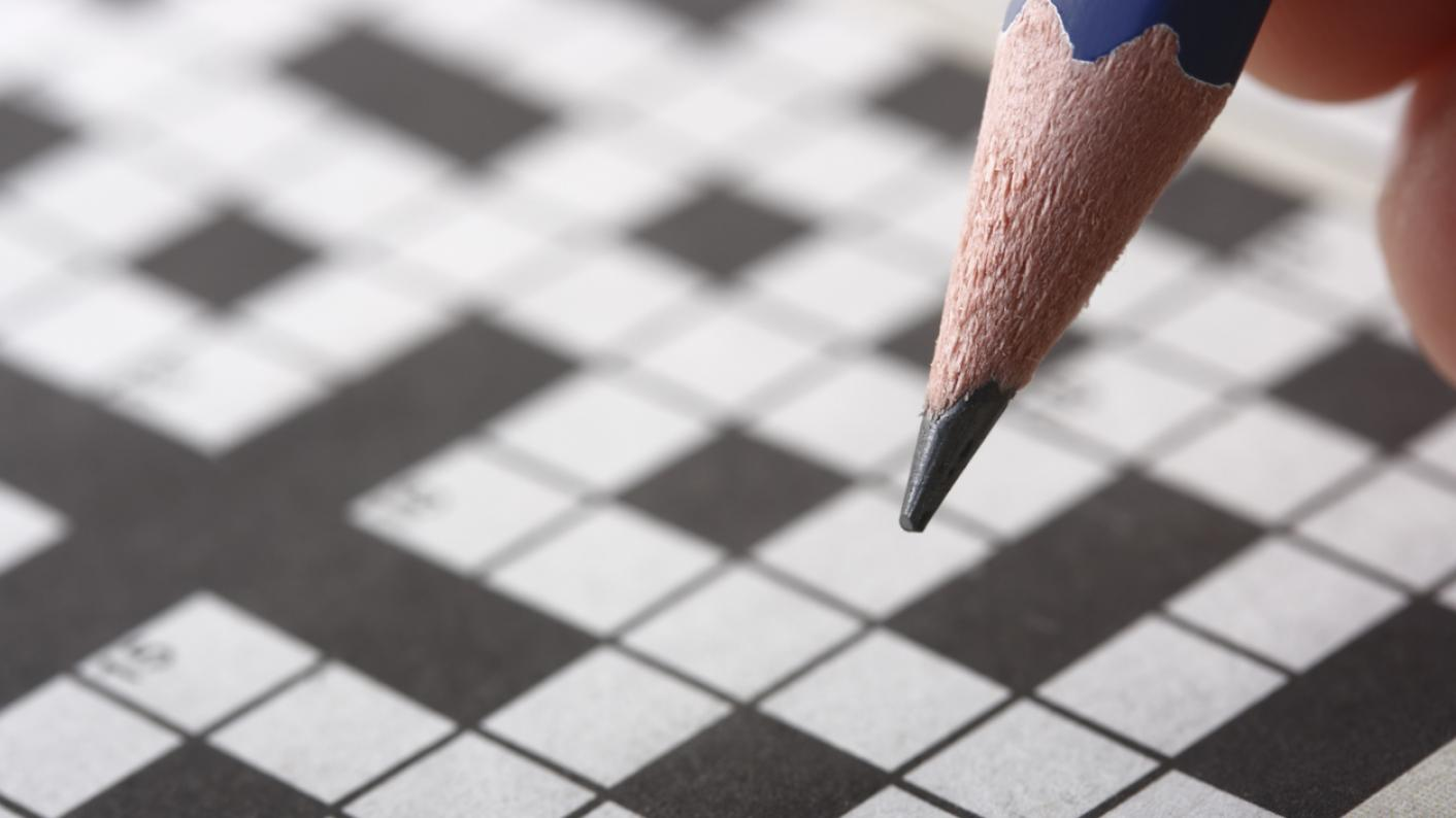 Crossword puzzle, with pencil