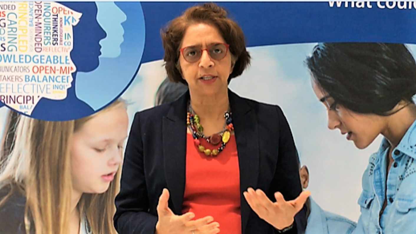 Siva Kumari at the IB Global Conference