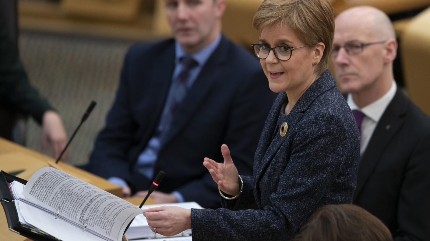 Scotland's first minister, Nicola Sturgeon, has become embroiled in a row over a review into falling Higher pass rates (Photo: Jane Barlow/PA Wire)