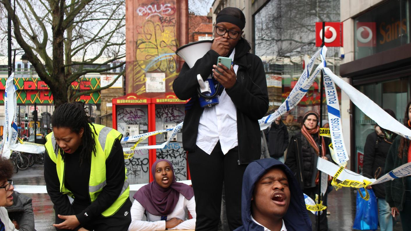 The IC Free student protest against pupil isolation and school exclusions