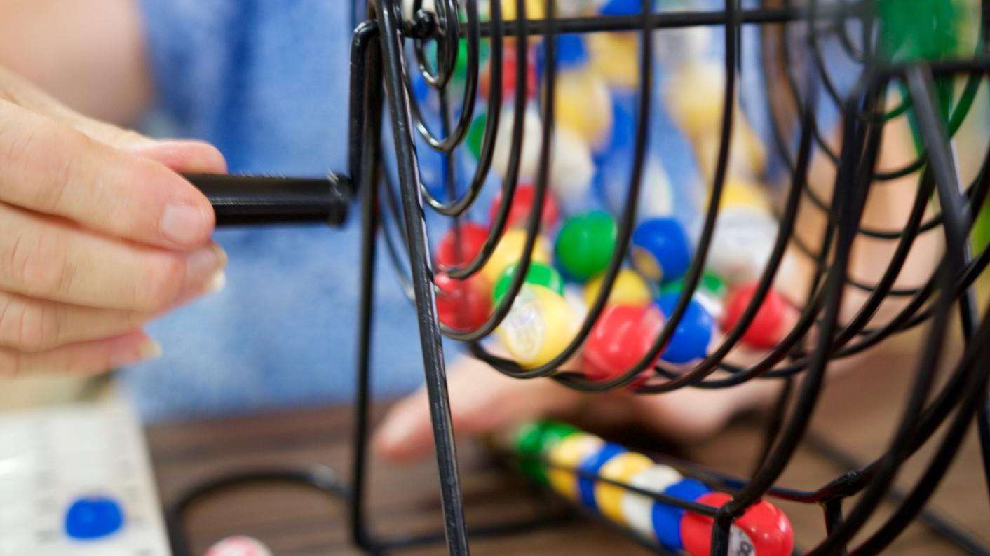 Bingo wheel, with lottery balls
