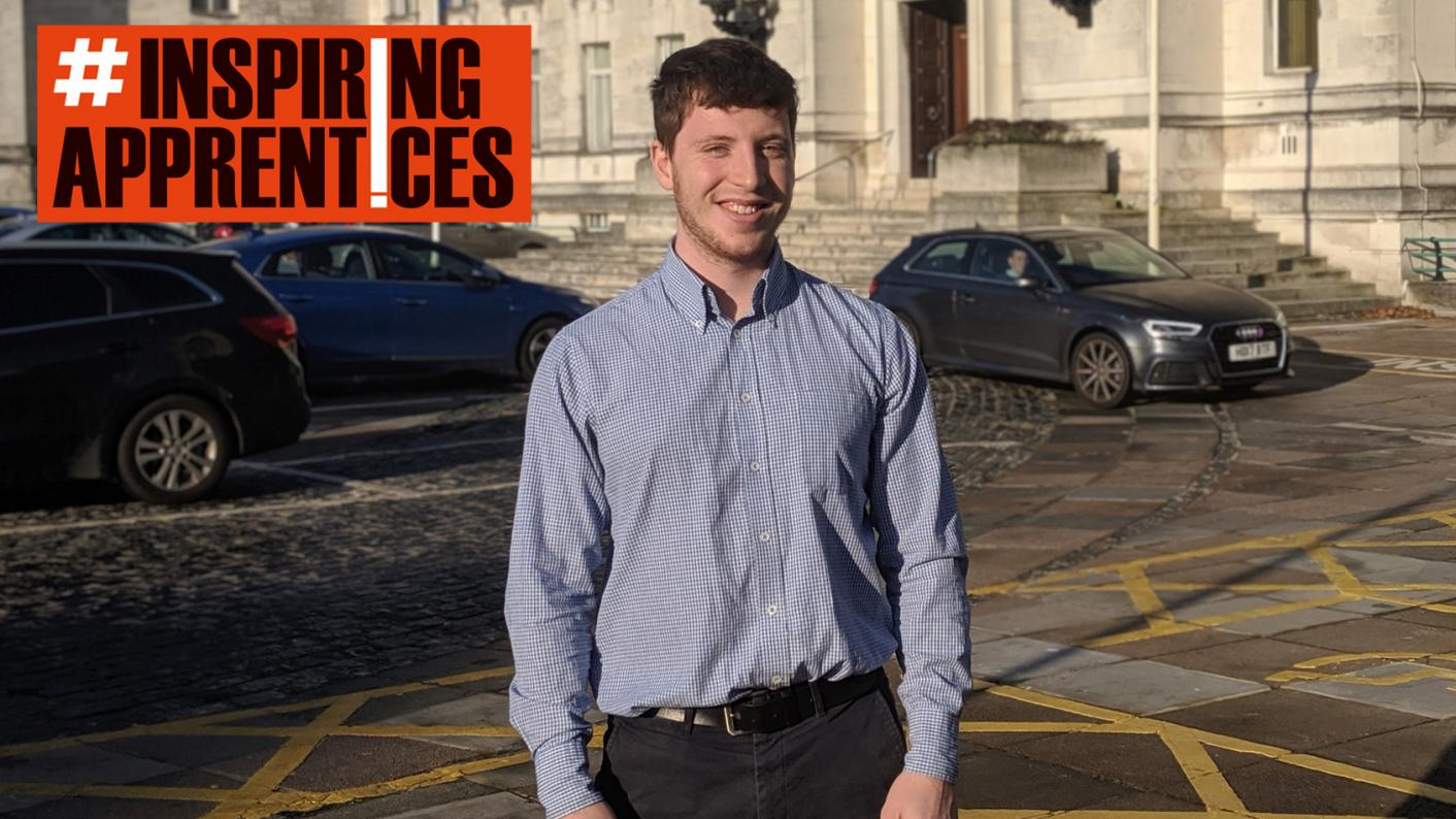 Apprenticeships: Tom Anders, a digital marketing apprentice with Southampton City Council, says his school did not promote apprenticeships