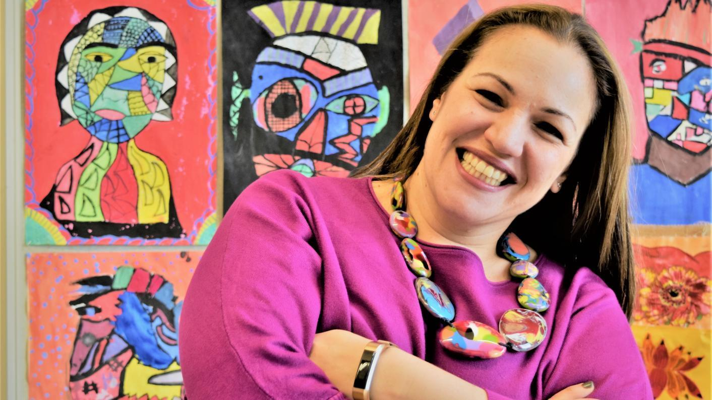 Andria Zafirakou, founder of Artists in Residence and winner of the Global Teacher Prize 2018