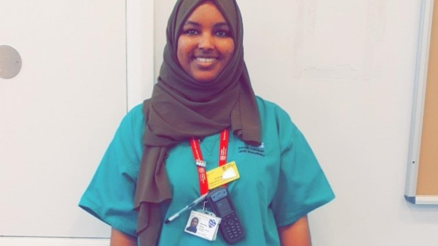 Nursing apprentice Musthag Kahin has been named among Tes' FE people of the year for her work on the coronavirus front line