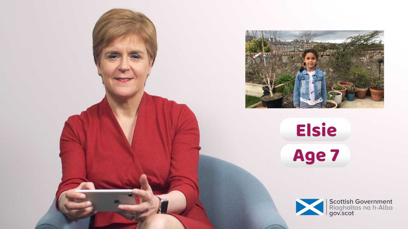 WATCH: First minister Nicola Sturgeon answers children's questions about coronavirus