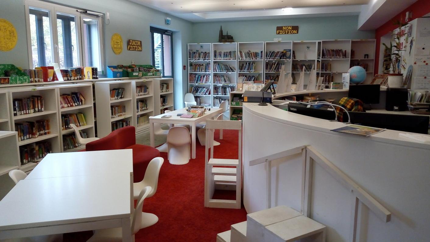 Coronavirus: How the school library at Berlin Brandenburg International School has been coping with the new ways of working (Photo by Marc Titze)