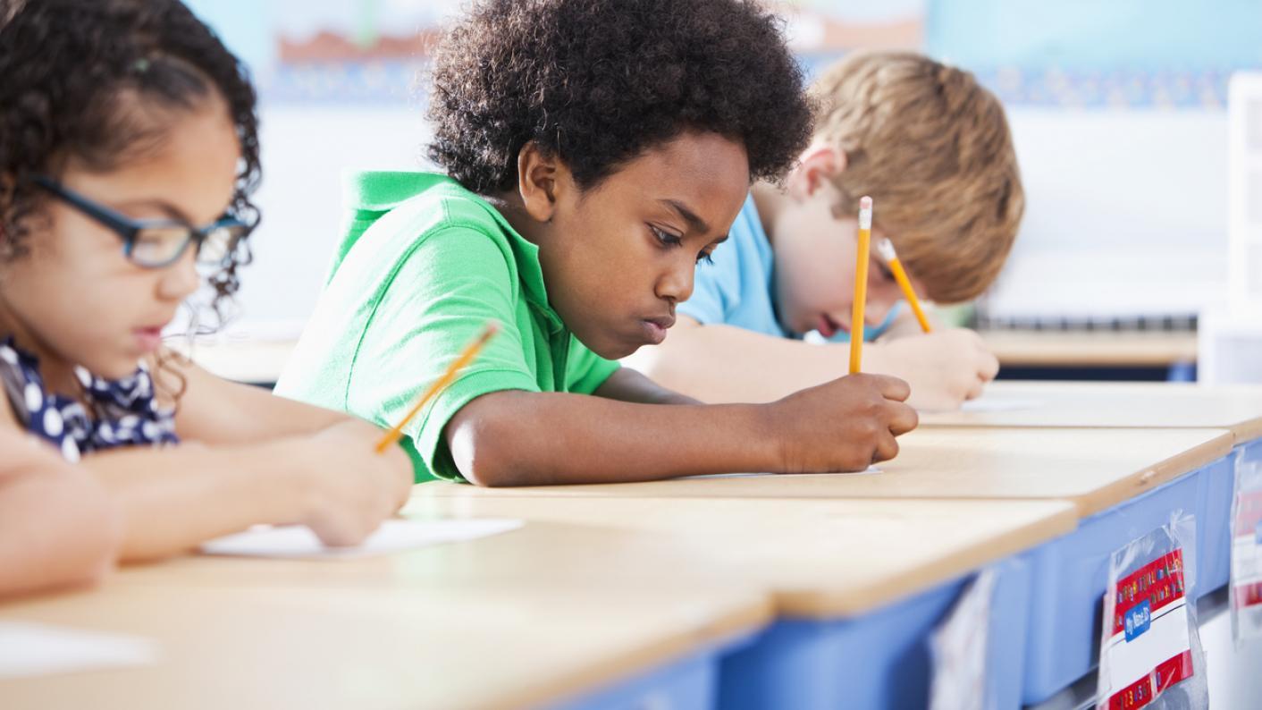 Children studying at school