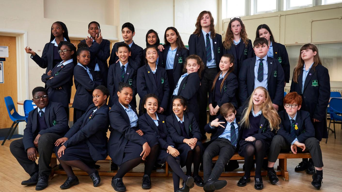 Pupils at theschool in the TV Show The School That Tried To End Racism