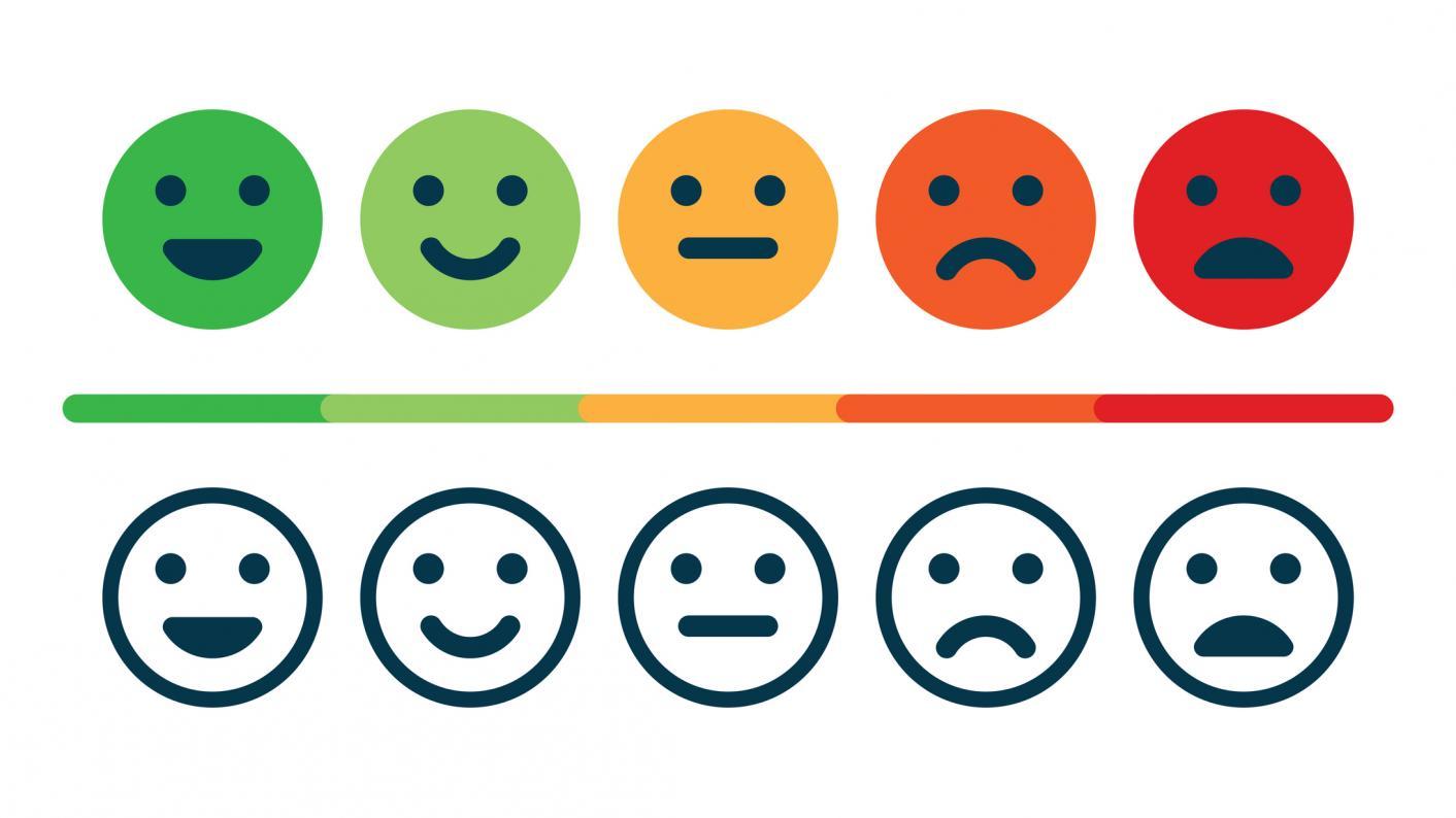 Smiley faces feedback