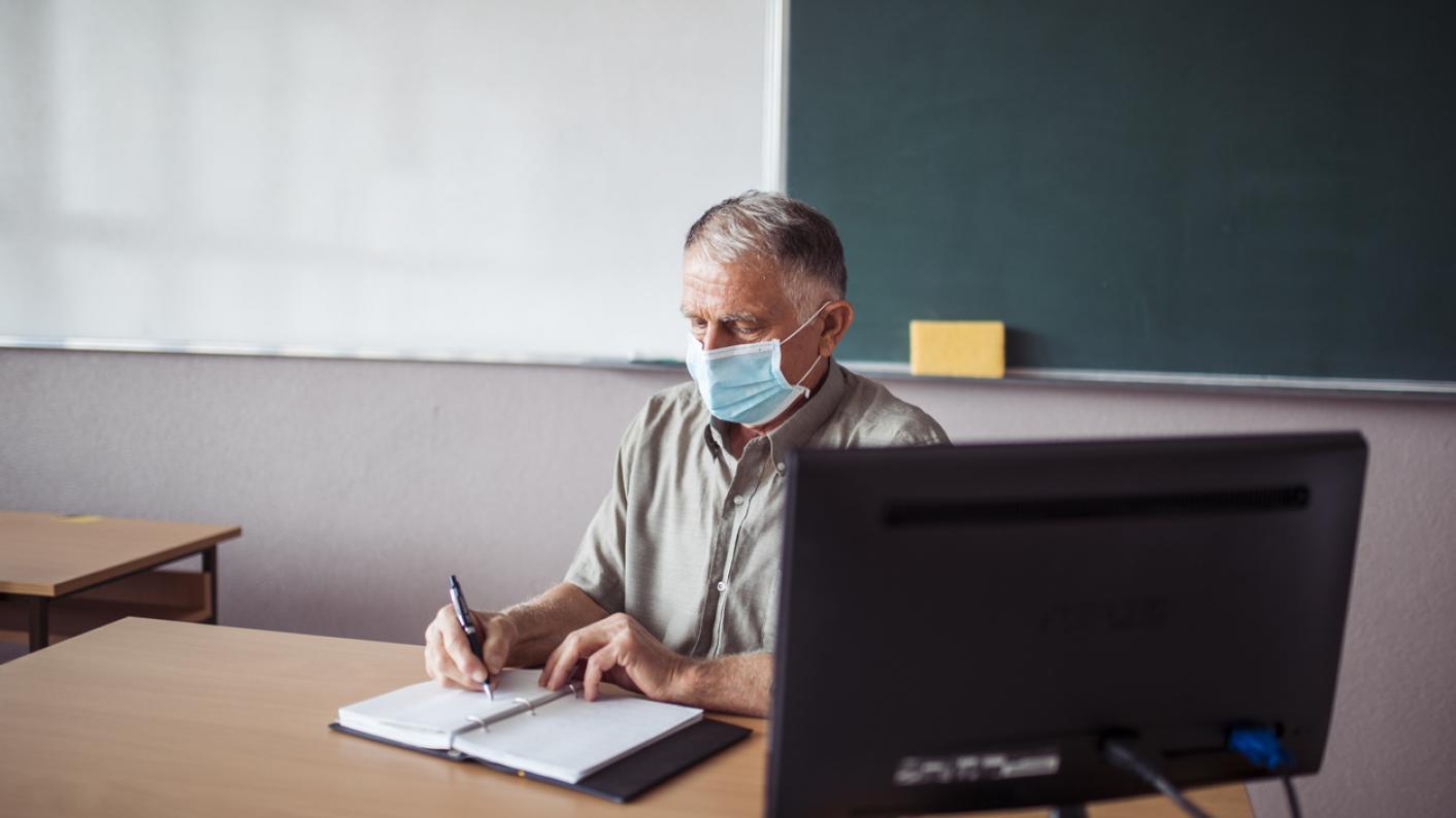older teacher masks