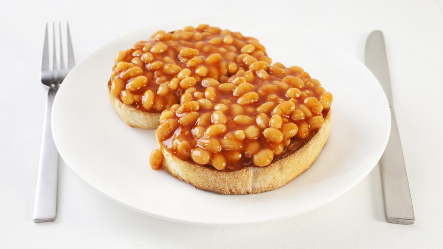 Baked beans on toast image