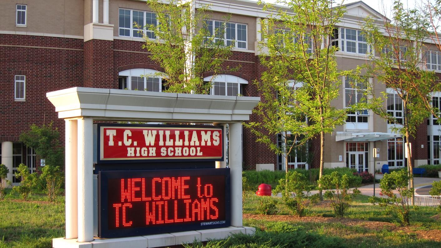 T.C Williams high school credit: Alexandria City Public School