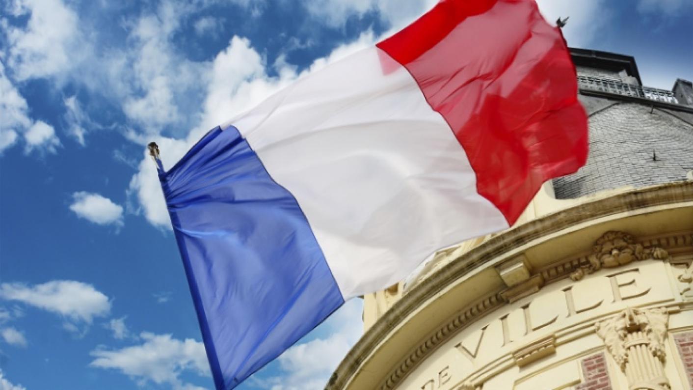 French Flag Flying For Bastille Day