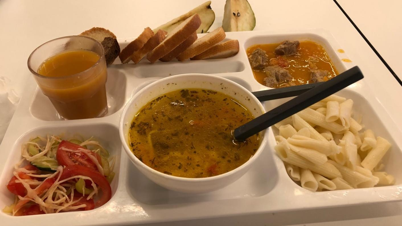 A hot bowl of soup is an important tradition for schools in Moldova, particularly in the coronavirus crisis