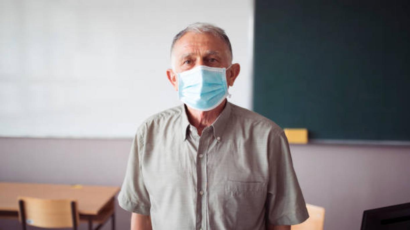 older teacher covid