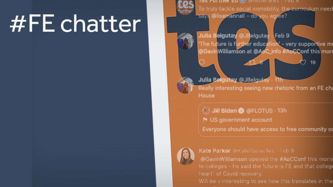 FE Twitter chatter: Here are the top 10 tweets from FE Twitter this week - Jackie Weaver, National Careers Week and Jackie Weaver