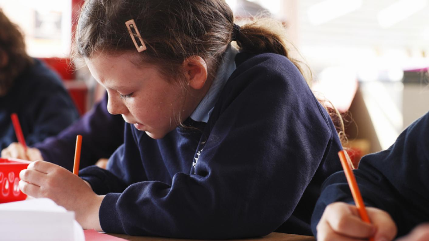 Primary pupils sitting Sats tests
