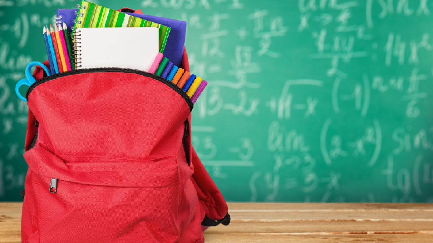 Backpack Full Of Stationary To Help Children Remain Organised & Ready For School