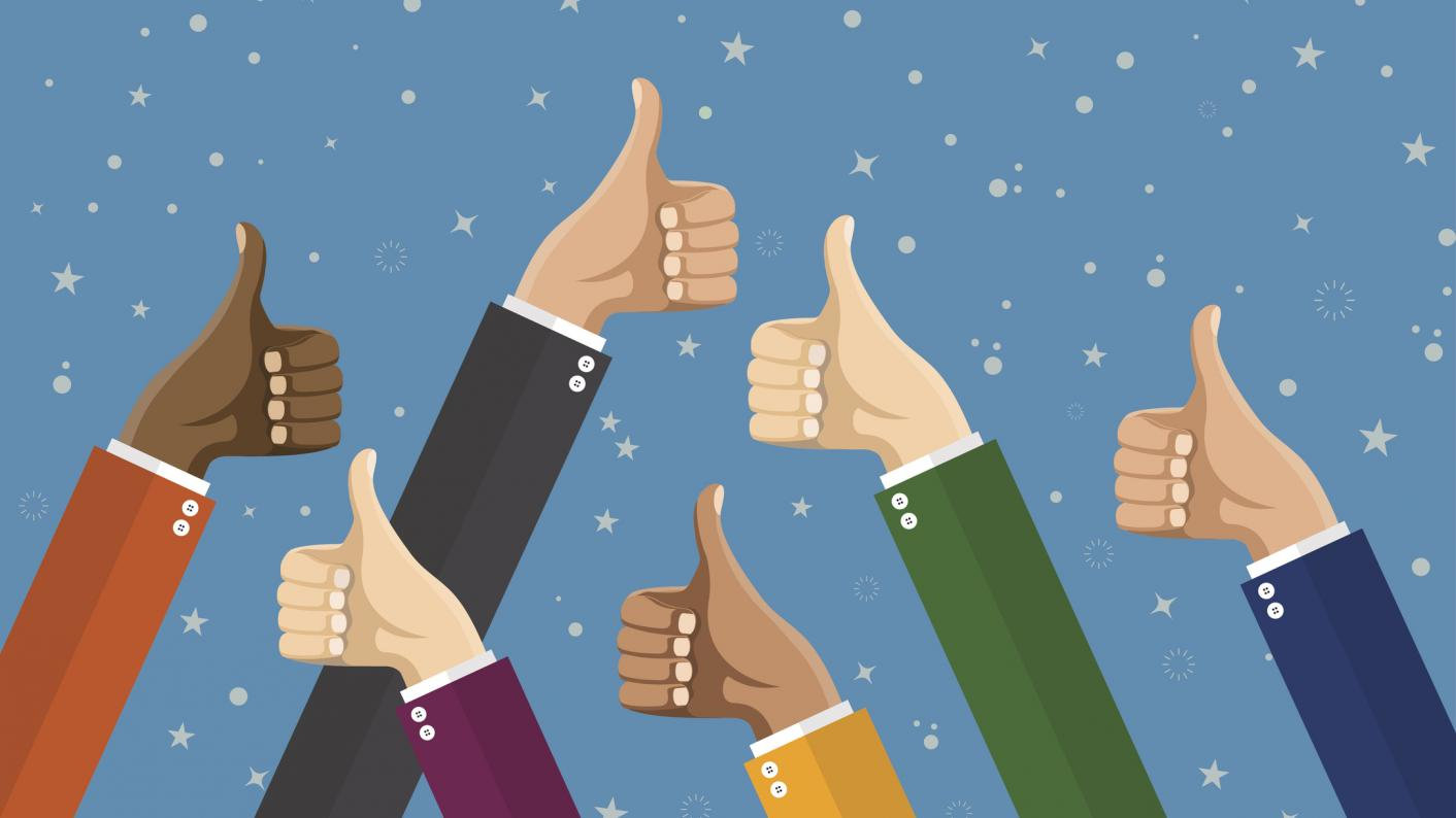 Thumbs Up With Blue Background For The Top 20 Computing Resources