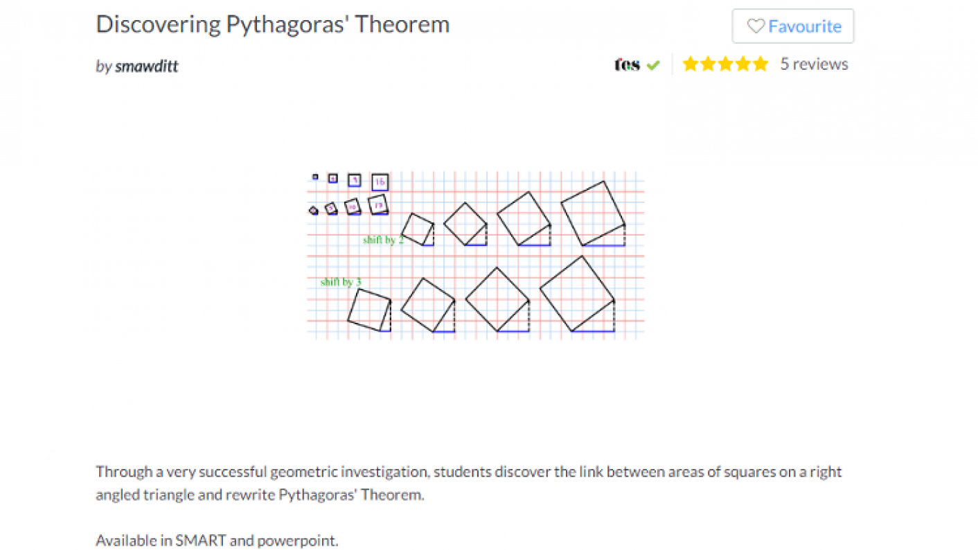 TES Maths, ROTW, Pythagoras Theorem, Investigation, Secondary, KS3, KS4, Year 7, Year 8, Year 9, Year 10, Year 11